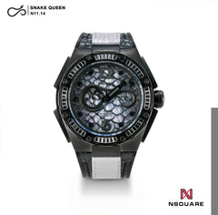 NSQUARE SnakeQueen Automatic Watch-46mm  N11.14 Night Shade|NSQUARE 蛇后系列 自動錶-46毫米. N11.14 夜影灰