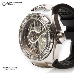 NSQUARE SnakeQueen Automatic Watch-46mm  N11.2 White|NSQUARE 蛇后系列 自動錶-46毫米. N11.2 白色