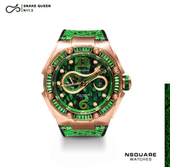 NSQUARE SnakeQueen Automatic Watch-46mm  N11.3 SPRING GREEN|NSQUARE 蛇后系列 自動錶-46毫米  N11.3 春天綠色