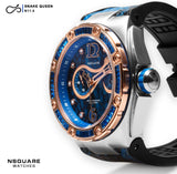 NSQUARE SnakeQueen Automatic Watch-46mm  N11.4 Gamma Blue|NSQUARE 蛇后系列 自動錶-46毫米  N11.4 伽馬藍色