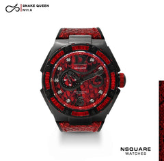 NSQUARE SnakeQueen Automatic Watch-46mm  N11.1 RED|NSQUARE 蛇后系列 自動錶-46毫米 N 11.1 紅色