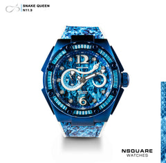 NSQUARE SnakeQueen Automatic Watch-46mm  N11.9 Hyper Blue | NSQUARE 蛇后系列 自動錶-46毫米  N11.9超艷藍