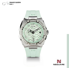 NSQUARE SnakeQueen39mm Automatic Watch- N48.1 Turquoise|NSQUARE 蛇后39毫米系列 自動錶-46. N48.1綠松色