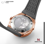 NSQUARE SnakeQueen39mm Automatic Watch- N48.2 RG/Gray|NSQUARE 蛇后39毫米系列 自動錶. N48.2玫瑰金色/冷灰色