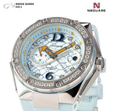 NSQUARE SnakeQueen39mm Automatic Watch- N48.4 Light Blue|NSQUARE 蛇后39毫米系列 自動錶. N48.4淡藍色