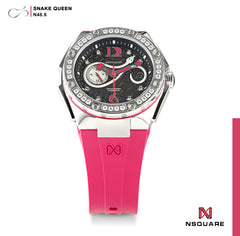 NSQUARE SnakeQueen39mm Automatic Watch- N48.5 Cherry Red|NSQUARE 蛇后39毫米系列 自動錶. N48.5樱桃红