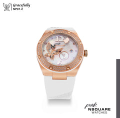NSQUARE PINK Gracefully Automatic Watch-40mm  NP 01.2|NSQUARE PINK 蝴蝶系列 自動錶-40毫米  NP 01.2