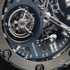 NSQUARE NM01-TOURBILLON Watch - 46mm  N35.5 Blue|NM01-陀飛輪 46毫米  N35.5藍色