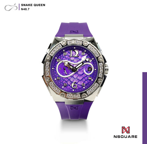 NSQUARE SnakeQueen39mm Automatic Watch- N48.7 Purple|NSQUARE 蛇后39毫米系列 自動錶-46. N48.7紫色