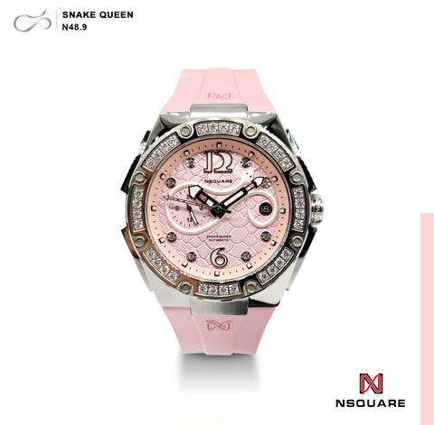 NSQUARE SnakeQueen39mm Automatic Watch- N48.9 Pure Pink|NSQUARE 蛇后39毫米系列 自動錶-46. N48.9純粉紅色