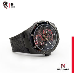NSQUARE Dragon Automatic Watch N60.3 Black Limited Edition|NSQUARE 龍系列自動錶 N60.3 黑色限量版