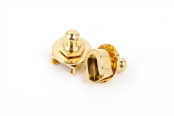 Fender® Strap Locks (Gold) (2) (No Buttons)