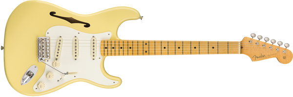 Eric Johnson Thinline Stratocaster®, Maple Fingerboard, Vintage White