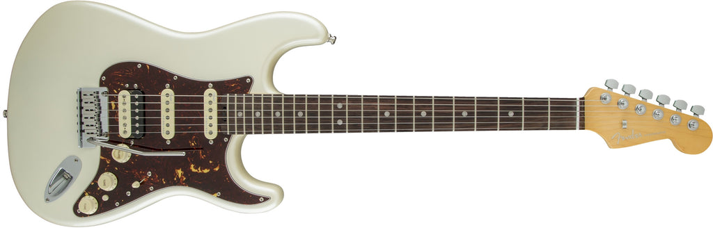 Fender American Elite Stratocaster® Olympic Pearl HSS Shawbucker Rosewood