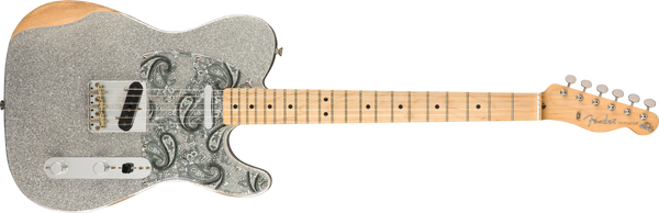 Fender Brad Paisley Road Worn Telecaster®, Maple Fingerboard, Silver Sparkle