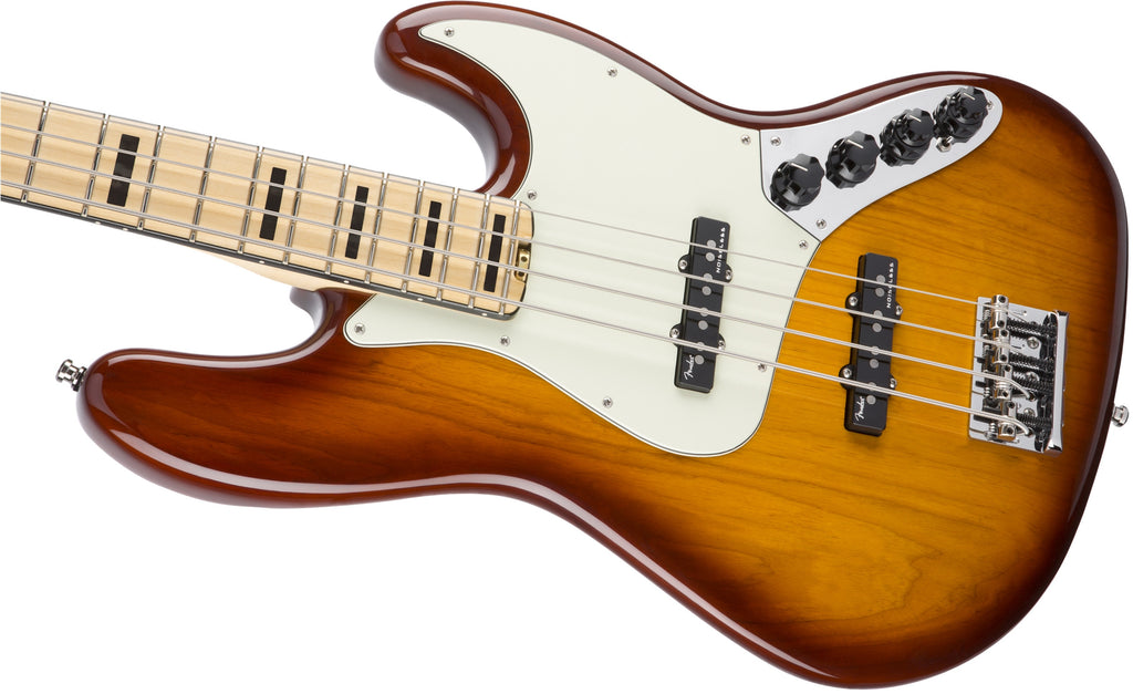 Fender American Elite Jazz Bass® Tobacco Sunburst Maple Neck