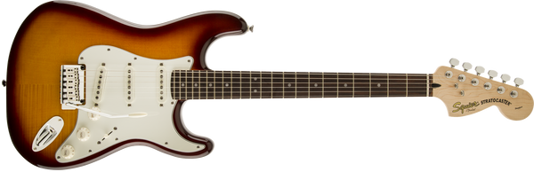 Squier Standard Stratocaster Flame Maple Top Amber
