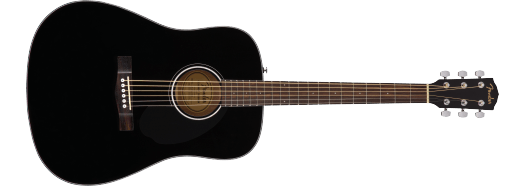Fender CD-60 Dreadnought  Black With Hardcase