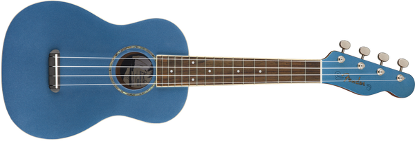 Fender Zuma Classic Concert Uke, Walnut Fingerboard, Lake Placid Blue