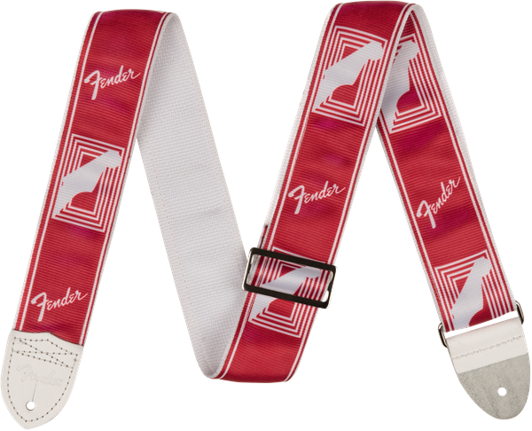 "Fender 2"" CUSTOM COLOR FENDER® MONOGRAMMED STRAPS, Candy Apple Red"