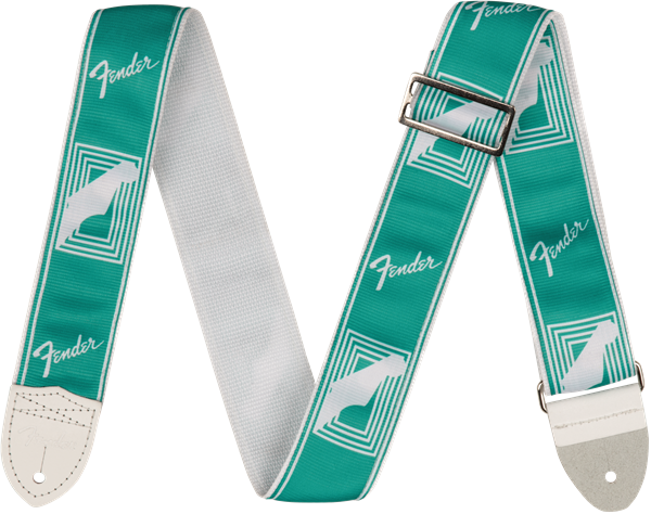 "Fender  2"" CUSTOM COLOR FENDER® MONOGRAMMED STRAPS, Sea Foam Green"