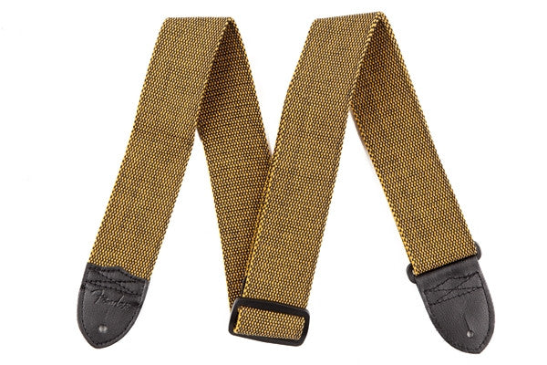 "Fender® ""F"" Tweed Strap, Gold/Black"