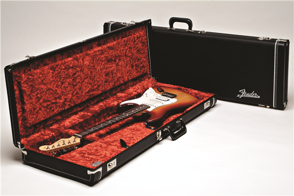 Fender G&G Deluxe Strat®/Tele® Hard Case Black with Orange Plush