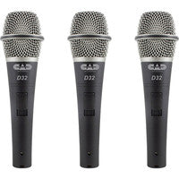 CAD Audio D32X3 3-Pack of CADLive D32 Dynamic Handheld Microphones