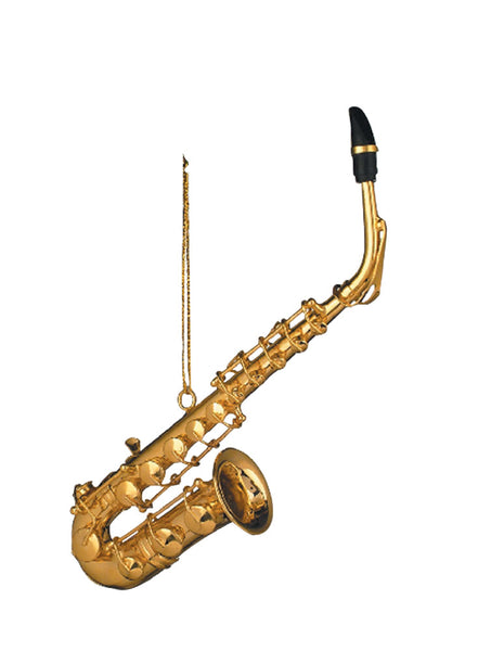 Large Saxophone Christmas Ornament