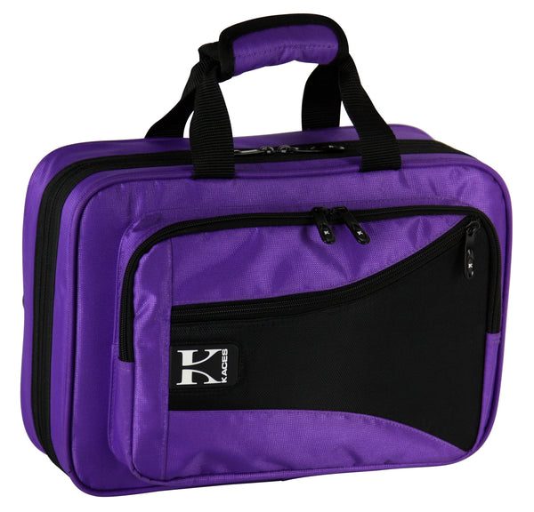 Kaces Lightweight Hardshell Clarinet Case, Purple