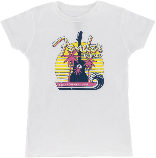 Woman's Ukulele T-Shirt, White