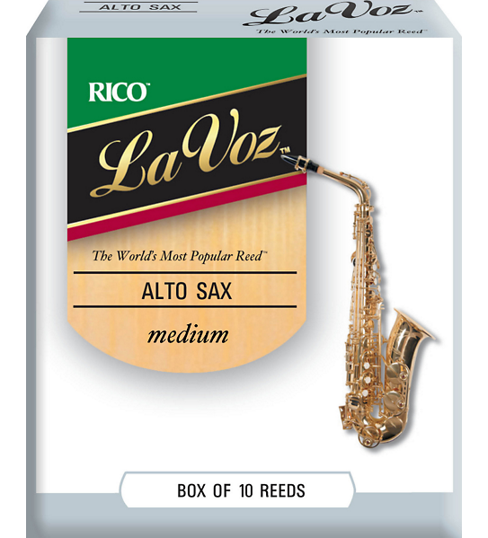 Rico La Voz Alto Sax Reed Medium Box 10