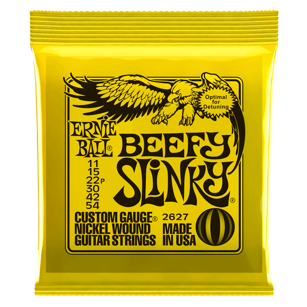 ERNIE BALL BEEFY SLINKY NICKEL WOUND ELECTRIC GUITAR STRINGS