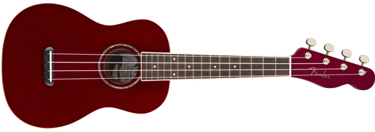Fender Zuma Classic Concert Uke, Walnut Fingerboard, Candy Apple Red