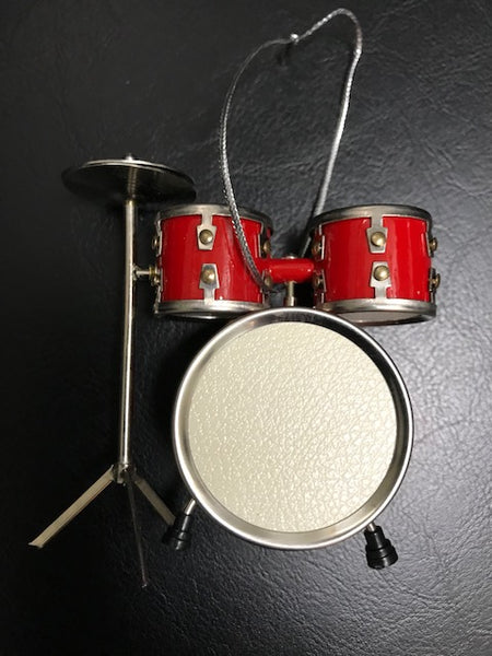 Drum Set Christmas Ornament Red