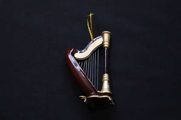 Harp Christmas Ornament