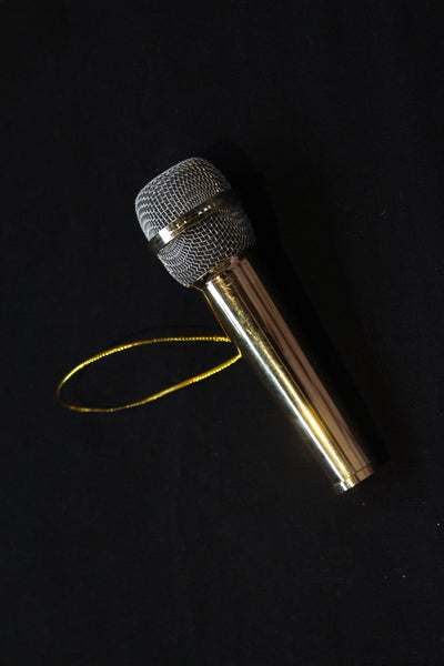 Microphone Christmas Ornament