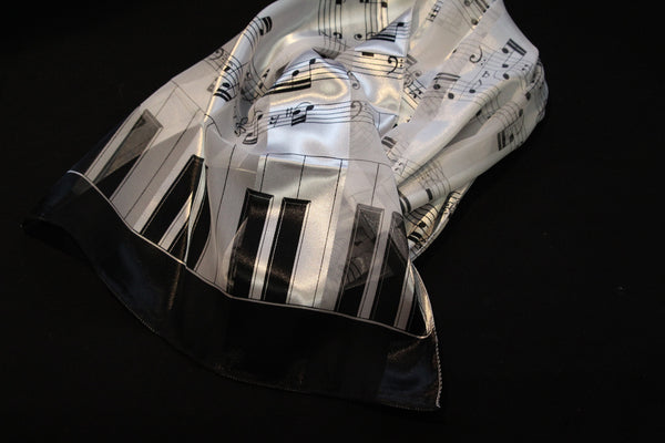 Black and White Piano Scarf