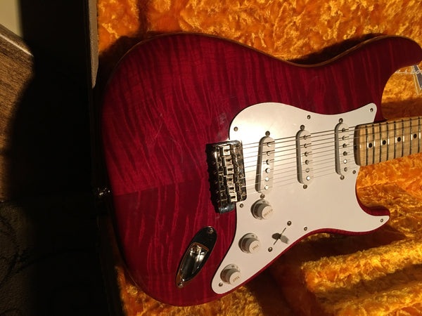 Fender Custom Shop Flame 1955 NOS Stratocaster Bing Cherry