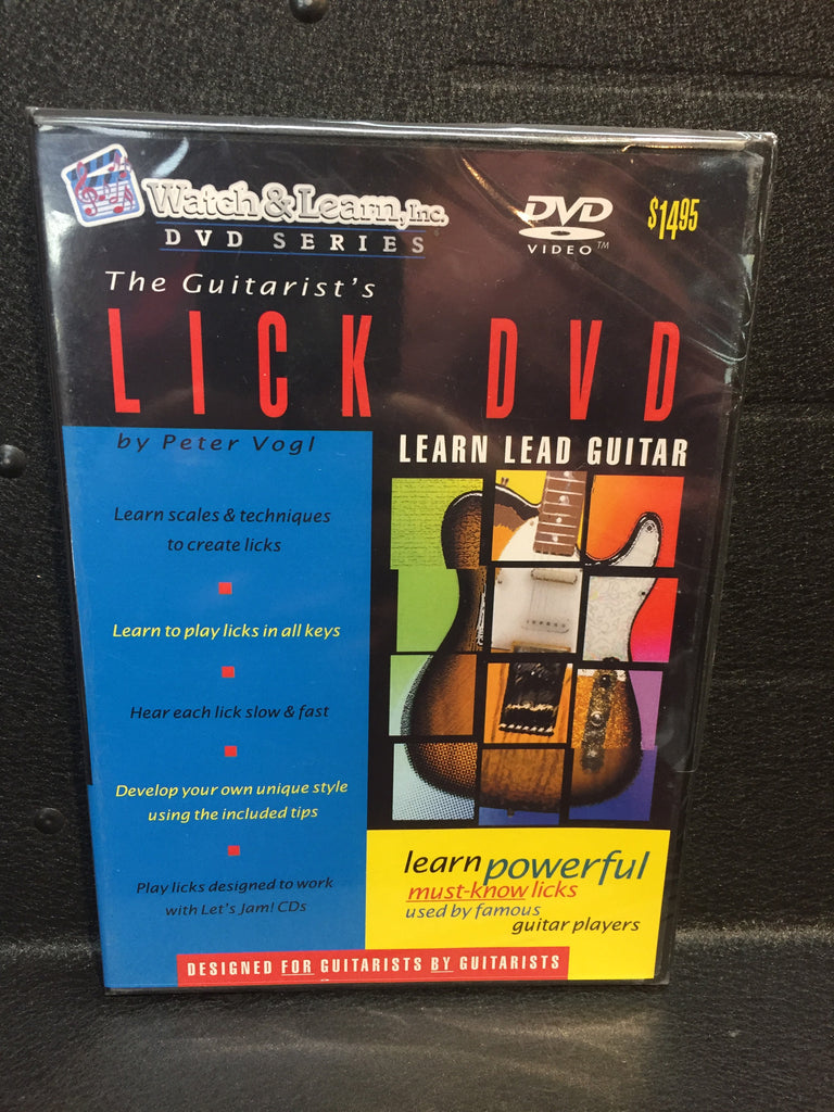 Watch & Learn The Guitarist's Lick DVD