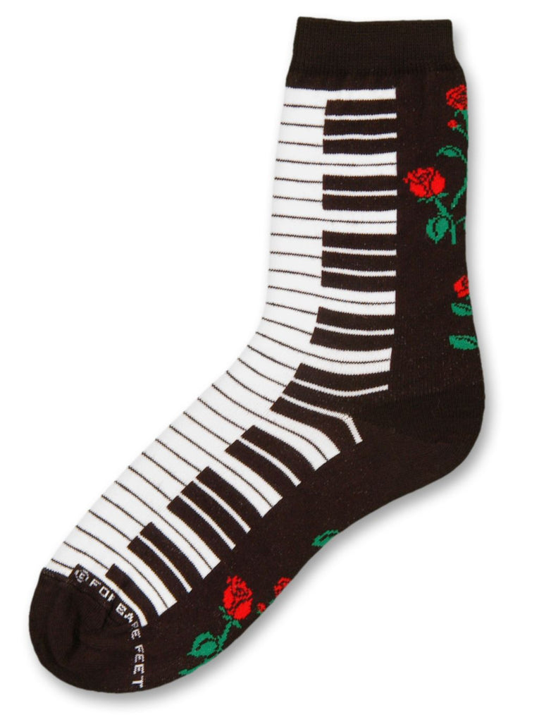 Keyboard & Rose Socks