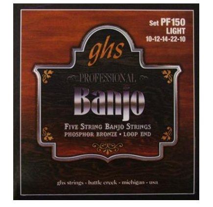 GHS Banjo 5 Strings Phosphor Bronze Loop End