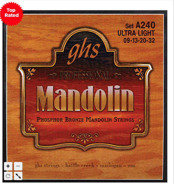 GHS Mandolin Phosphor Bronze Strings