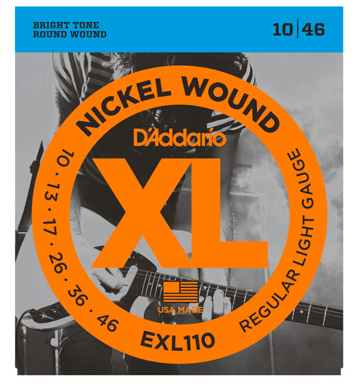 D'Addario EXL110 Nickel Wound Electric Guitar Strings