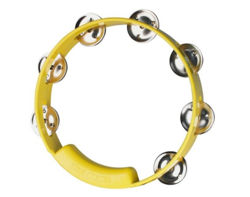 "RhythmTech True Colors Tambourine  8"" Yellow"