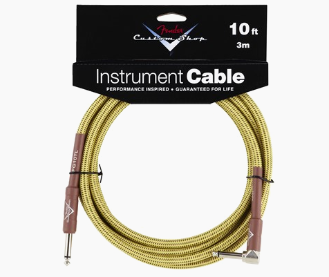 FENDER® CUSTOM SHOP CABLES (STRAIGHT-RIGHT ANGLE) 10 FT