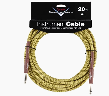 FENDER® CUSTOM SHOP CABLES (STRAIGHT-STRAIGHT ANGLE) 20 Ft
