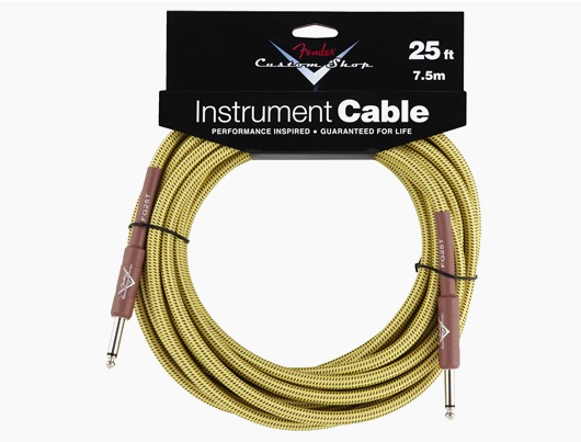 FENDER® CUSTOM SHOP CABLES (STRAIGHT-STRAIGHT ANGLE)  25 Ft