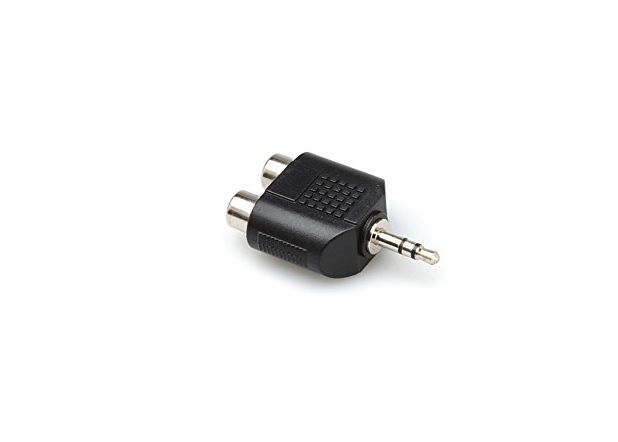 Hosa GRM-193 Dual RCA to 3.5 mm TRS Adapter
