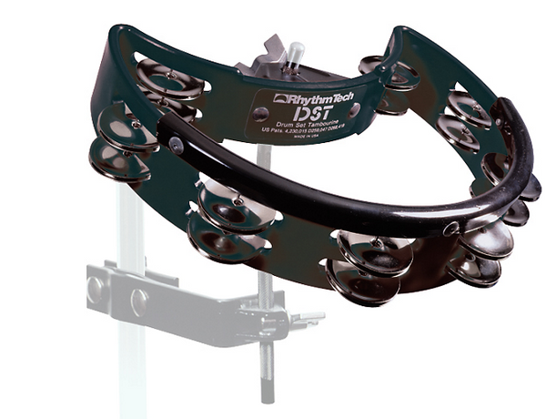 RhythmTech Nickel Drum Tambourine Black